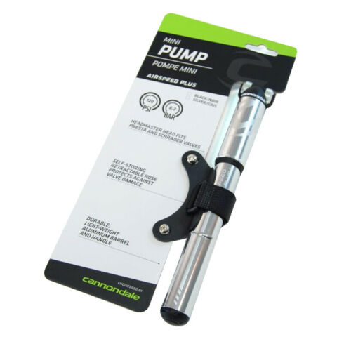 Details about  /Cannondale Airspeed Plus Mini Bicycle Pump 120PSI Silver