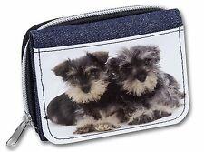 Miniature Schnauzer Dogs Girls/Ladies Denim Purse Wallet Christmas Gif, AD-S75JW