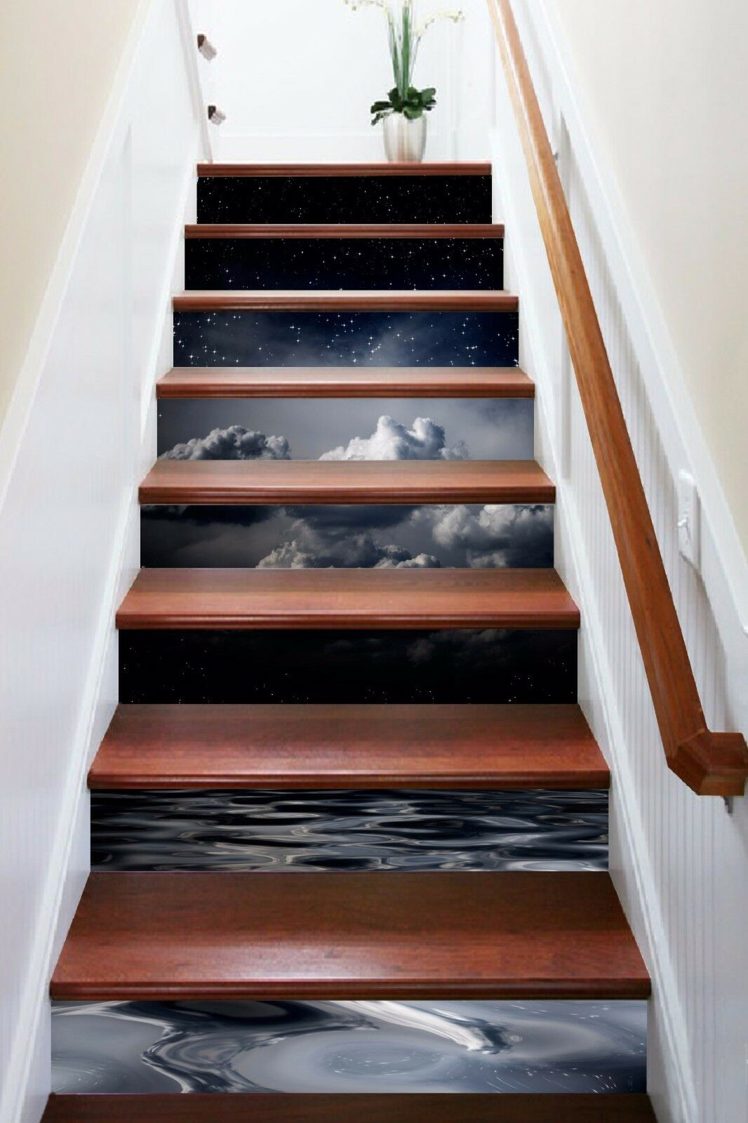 3D Moon Water 863 Stair Risers Decoration Photo Mural Vinyl Decal Wallpaper AU