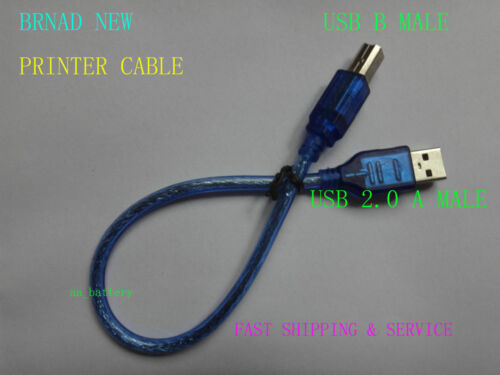 NEW USB 2.0 A MALE to B A-B SUPER SPEED PRINTER CABLE CORD For PC DELL HP Canon