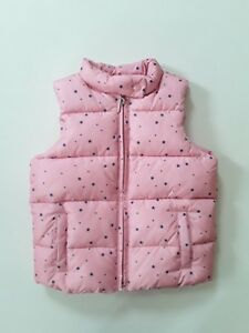 9d8af173950d BABY GAP Toddler Girl s Pink Puffer VEST Stars Print Size 5 Years ...