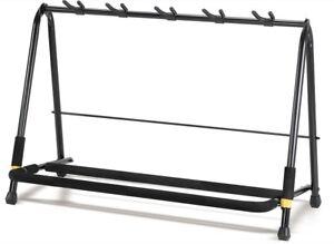 HERCULES-GS525B-5-pc-Display-Rack-Guitar-Bass-Acoustic-Stand