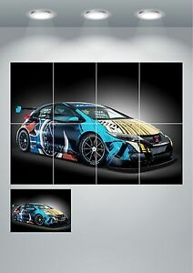 Honda-Civic-wt-Giant-Wall-Art-Poster-Print-Split-Sections-or-Giant-1-Piece-A0-A1
