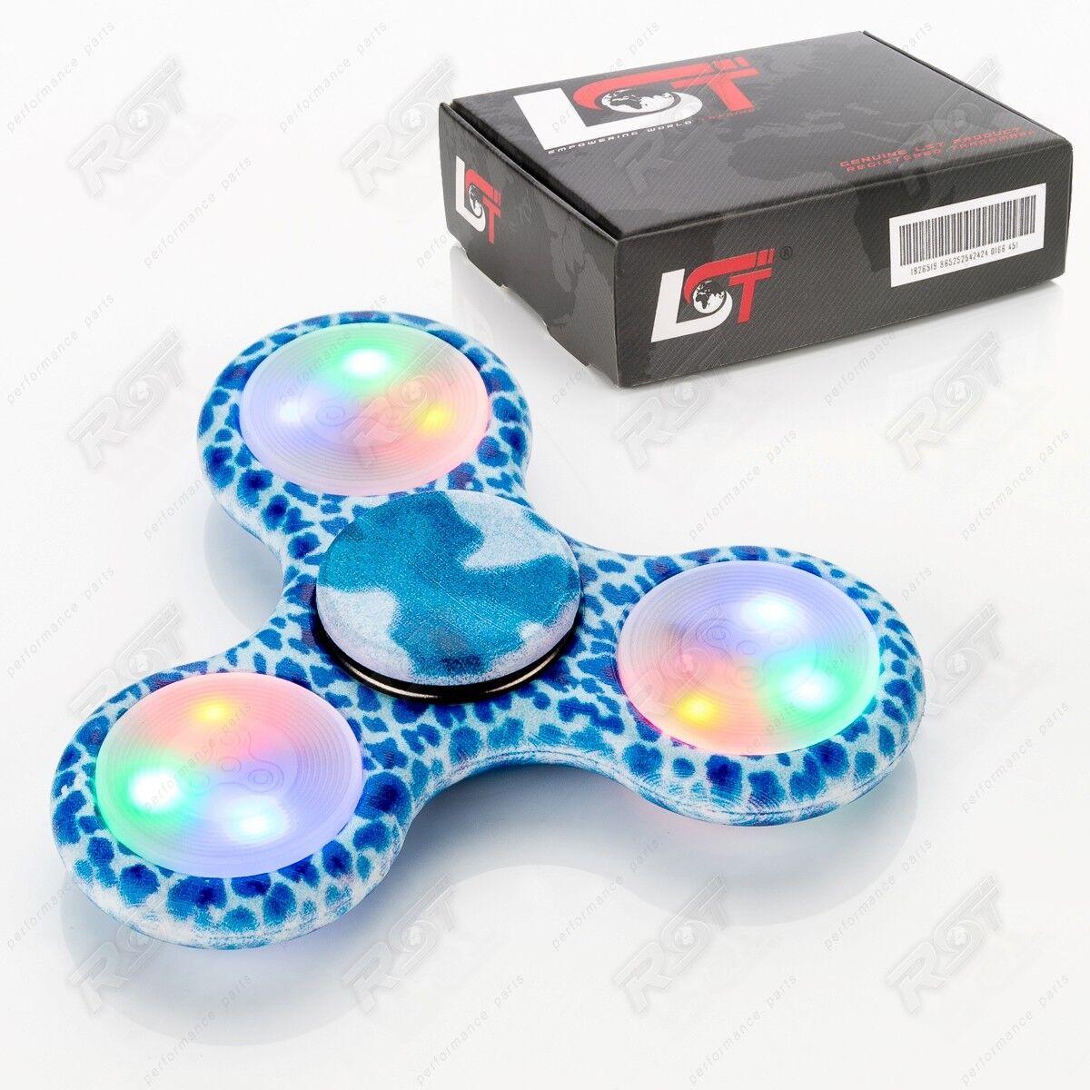 フィジースピナーリラクゼーションADHD指ジャイロアンチストレス斑点青LED