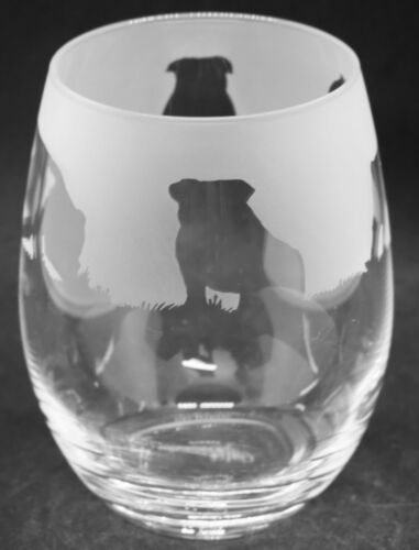 BULLDOG Frieze Boxed 36cl Crystal Stemless Wine Water Glass