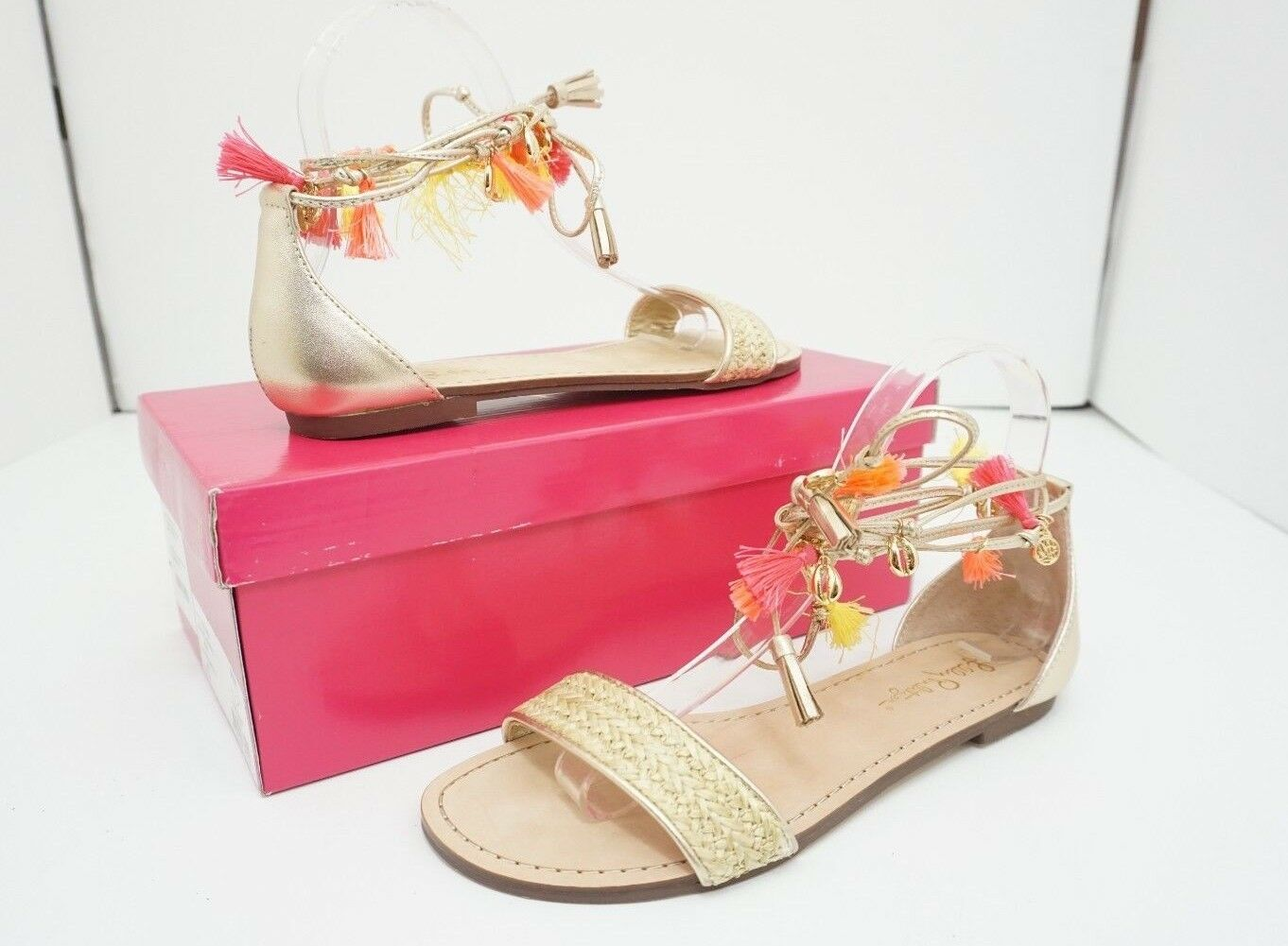 Lilly Lilly Lilly Pulitzer Willa Femmes Flats Sandales Sandale or métallique Taille US 7 m 272f51