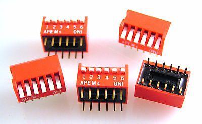APEM DPL-06U Pianoforte dip switch 6 vie per il 5 PEZZI OM547b