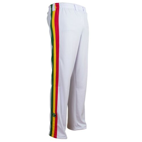Unisexe Blanc Reggae Adulte Jamaïque Sport Abadas Martiaux Art Piste Pantalon