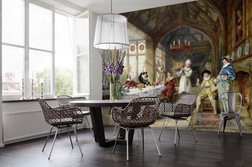 3D Mittagessen Fototapeten Wandbild Fototapete Bild Tapete Familie Kinder Kinder Kinder | Vogue  | Elegant Und Würdevoll  | Qualität und Verbraucher an erster Stelle  2661dc