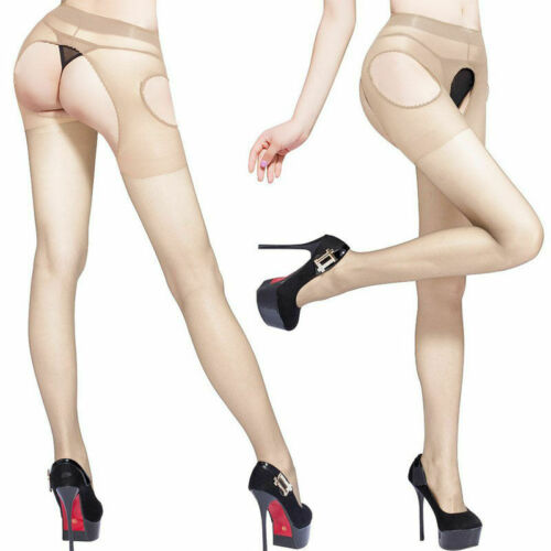 Women Crutchless Panty Tights Stockings Hosiery Open Crotch Suspender Pantyhose