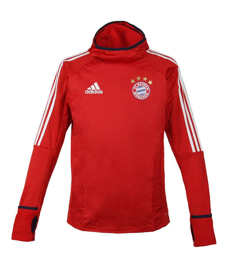 Adidas Bayern Munich calentamiento Top (BQ2454) Con Capucha Camisa Jersey Munchen de entrenamiento