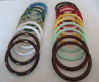 10 Pair Assorted 5 Round Plastic Macrame Rings Craft Supplies Purse Handles
