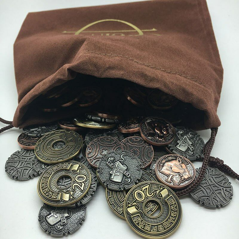 CLASSIC FANTASY BOARD GAME COIN SET tabletop medieval metal token Campaign Coins