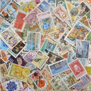 World-Stamps-Mixed-lot-of-approx-1-000-Off-Paper-Stamps-Kiloware-65g-1000
