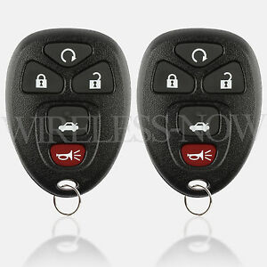 2 replacement for 2011 2012 2013 chevrolet impala key fob remote ebay. Black Bedroom Furniture Sets. Home Design Ideas