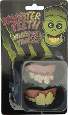 2 Sets of Halloween Fake Monster Teeth Zombie Teeth Fancy Dress Halloween