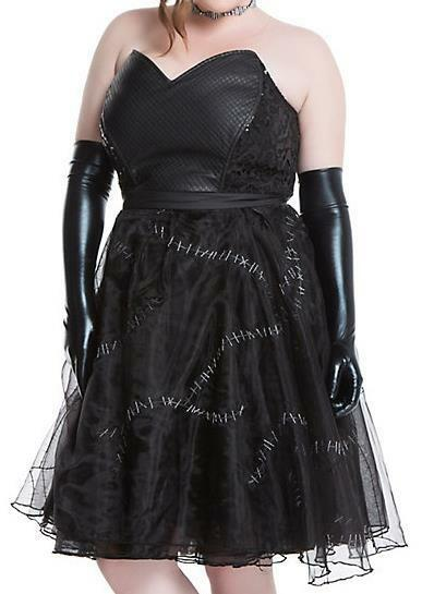 HOT TOPIC  CATWOMAN  SEXY  FAUX LEATHER & SEQUIN DRESS Sz.26 MSRP  NWT