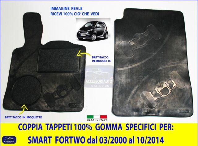 Set Tappetini Tappeti per SMART Fortwo 1998-2007 su misura in gomma