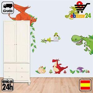 Detalles De Vinilo Decorativo Animales Cuarto Niños Dinosaurios Dibujos Dormitorio Envío Gr