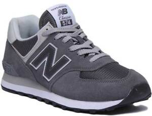 Details about New Balance 574 Classic Men Suede Mesh Trainers In Grey White  Size UK 6 - 12