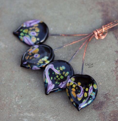 Aishe Choose Shape /& Finish Black /& Purple Glass Lampwork Headpins SRA MTO
