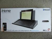 Ihome Idm5b Bluetooth Audio System And Wireless Keyboard With Speakerphone