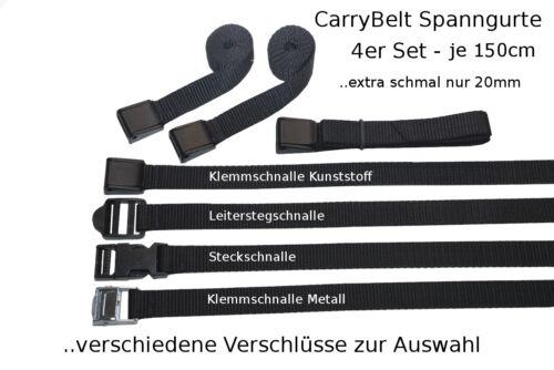 "Gepäck Outdoor Fahrrad Sicherung CarryBelt Spanngurt /""Reims20/"" 4er Set"