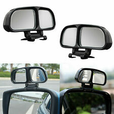 PAIR Car Blind spot mirrors Universal safety car van tow towing stick on black