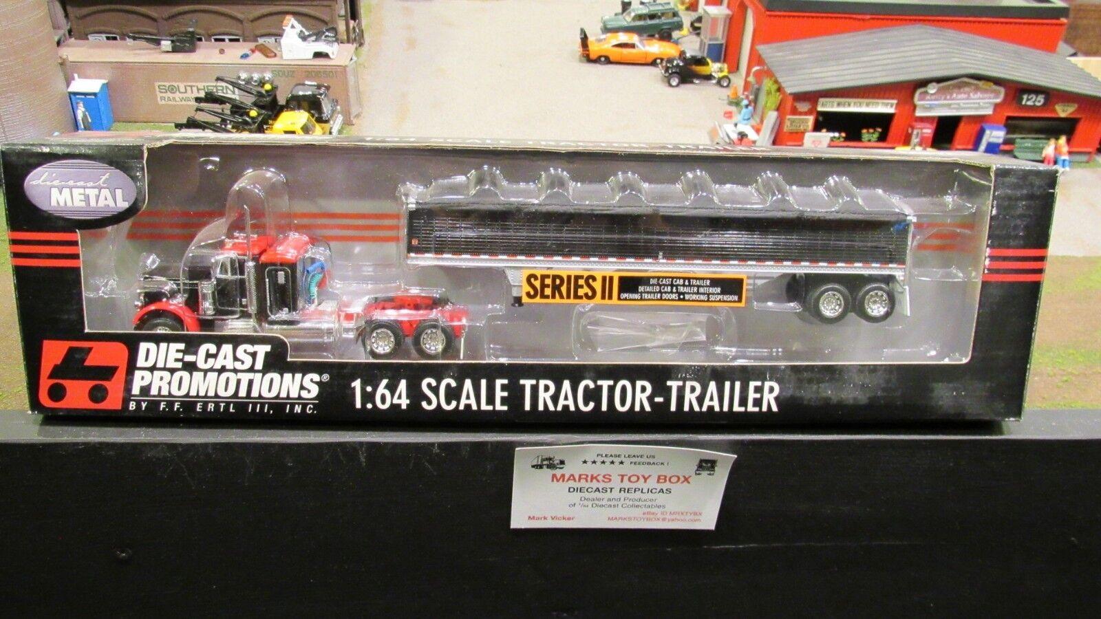 DCP 30561 RARE propriétaire exploitant 379 36  Superposé Semi Cab Camion Grain remorque 1 64