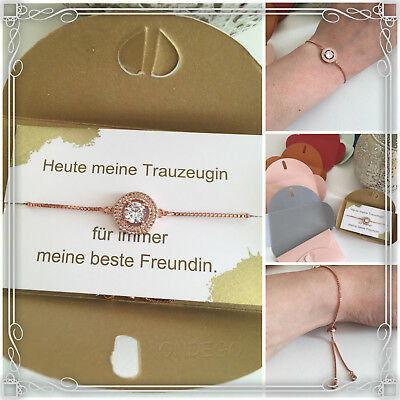 Trauzeugin Geschenk Armband Hochzeit Brautjungfer Beste Freundin Braut Kleeblatt