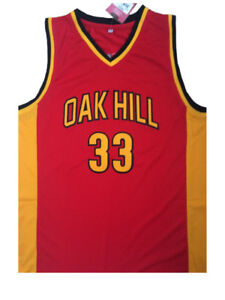 e40356c67 Kevin Durant 33 Oak Hill High School Sewn Red Yellow Basketball ...