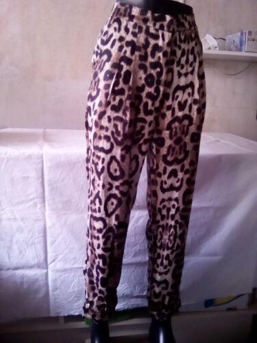 von Lucy /&Co stoff Hose gr.M Tiger Muster neu mit Etiketten Damen Hose