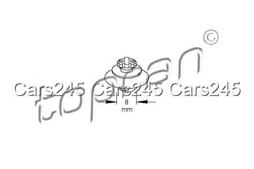 PEUGEOT Clip Fastener Retainer Gray x10 pcs 8565 62