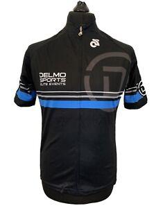 Champ Sys Delmo Sports Elite Events Cycling Jersey Black Women's Shirt XXL