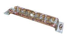 Hanukkah Menorah Hanukkia Glass & Brass Colorful Decoupage