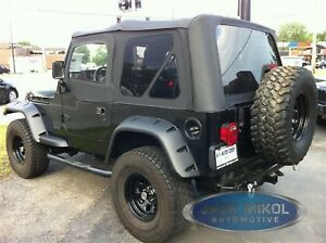Image is loading 97-06-Jeep-Wrangler-Replacement-Soft-Top-Upper-
