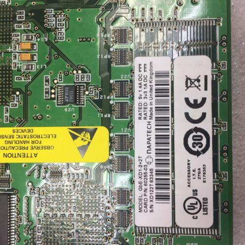 2 T 60255-03 PCI networking Card 90 Giorni Rtb Garanzia Napatech GbE-XD1-2