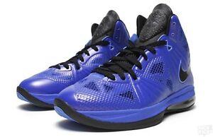 ce0ee45db0e84 Details about Mens Nike Lebron 8 PS SZ 10 Black Royal Blue Playoff King  James QS 441946-400