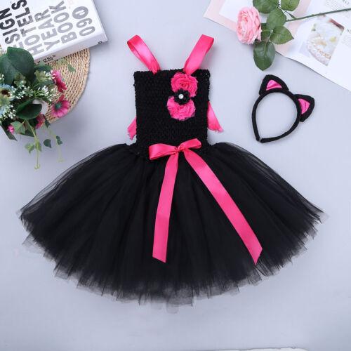 Girls Kid Rainbow Tutu Skirt Cartoon Fancy Dress Up Princess Cosplay Costume