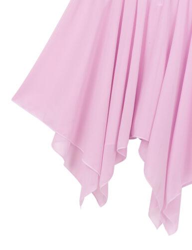 Kids Girls Halter Neck Sequins Ballet Dance Gymnastics Leotard+Irregular Skirt