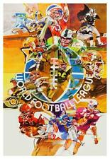 WFL Football 1973-1974 *AMAZING COLORS - LARGE POSTER*  Great 70's Artwork nfl