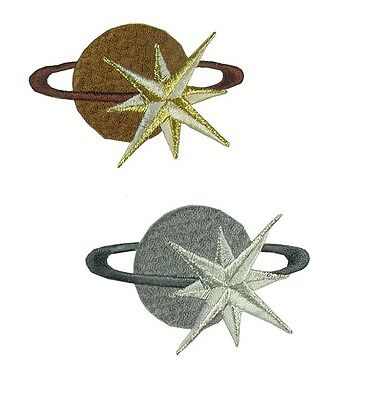Brown,Grey Earth,Galaxy,Star Embroidery Iron On Applique Patch