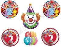 Circus 2nd Second Birthday Party Balloons Decoration Supplies Clown Lion Big Top