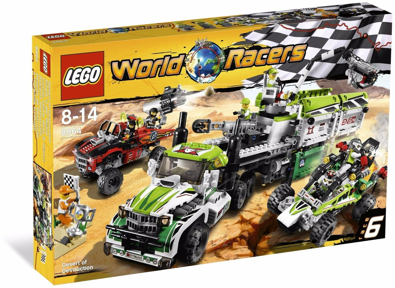 LEGO World Racer 8864 Desert of Destruction BNIB retirosso set cars