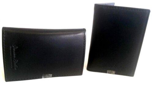 MUCCA Oyster ID Holder Genuino Morbido di Viaggio Pass 2 x carta di credito in pelle nera