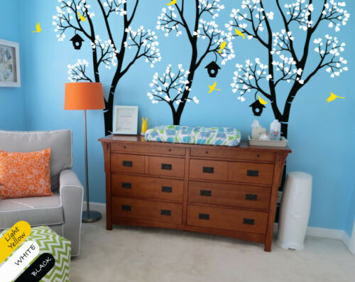 Birch Trees Wall Decals Nursery Tall Trees Wall sticker Mural decor KR037