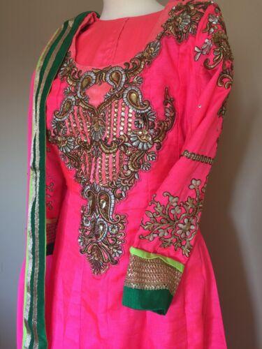 indiano Vestito di designer abito da taglia da Anarkali sposa 8 BqRYPBw