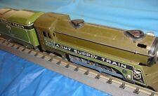 Marx prewar 500 Series Engine and tender - 0-4-0 O Guage Army Supply Train.