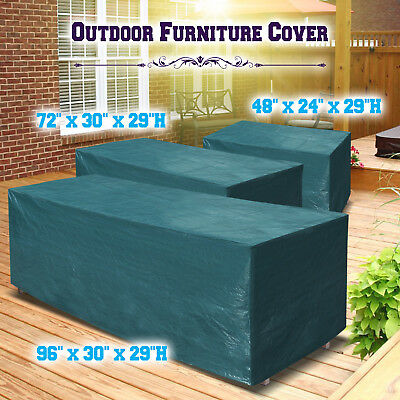Patio Garden Outdoor Furniture Winter Cover Rectangular ... on Patio Cover Ideas For Winter id=50382