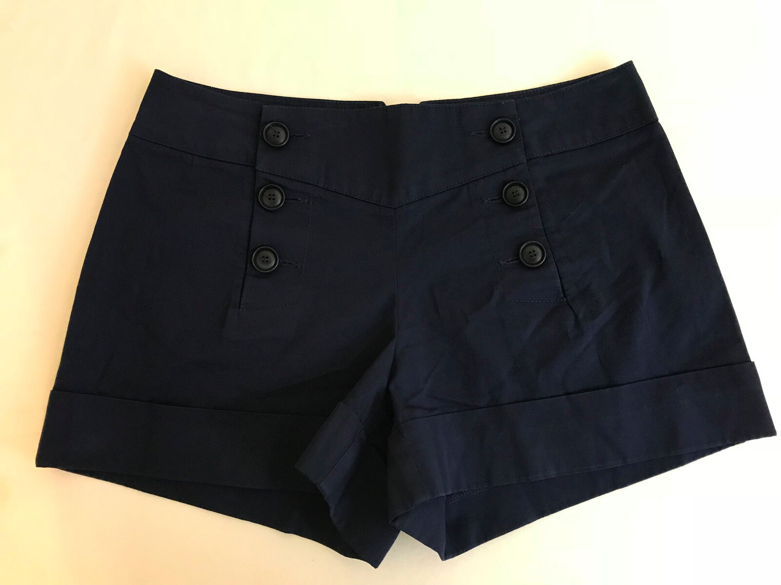 TRINA TURK navy bluee cotton spandex shorts Women's 2
